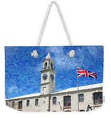 Weekender Tote Bag featuring the photograph Bermuda Clocktower by Verena Matthew