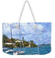Weekender Tote Bag featuring the photograph Bermuda Sailboats by Verena Matthew