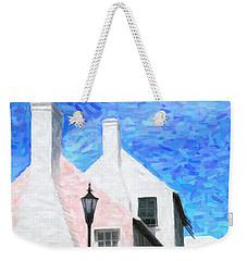 Weekender Tote Bag featuring the photograph Bermuda Side Street by Verena Matthew