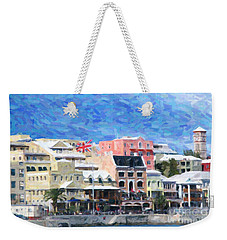 Weekender Tote Bag featuring the photograph Bermuda Waterfront by Verena Matthew