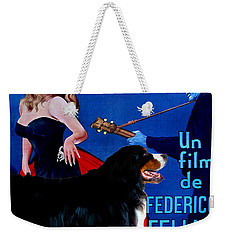 Bernese Mountain Dog Art Canvas Print - La Dolce Vita Movie Poster Weekender Tote Bag