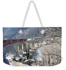 Bernina Express In Winter Weekender Tote Bag