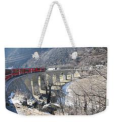 Bernina Express In Winter Weekender Tote Bag