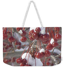 Weekender Tote Bag featuring the photograph Berry Basket by Christina Verdgeline