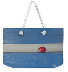 Weekender Tote Bag featuring the photograph Berry Blues by Christina Verdgeline