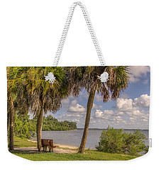 Weekender Tote Bag featuring the photograph Beside The Shore by Jane Luxton