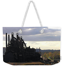 Bethlehem Steel On The Lehigh River Weekender Tote Bag