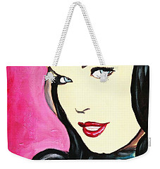 Bettie Page Pop Art Painting Weekender Tote Bag