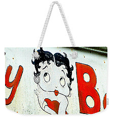 Betty Boop Herself Weekender Tote Bag by Kathy Barney