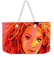 Weekender Tote Bag featuring the painting Beyonce by Brian Reaves