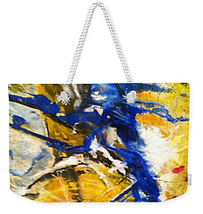 Weekender Tote Bag featuring the painting Beyond Boundaries by Kicking Bear  Productions
