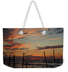 Weekender Tote Bag featuring the photograph Beyond The Border by Barbara McMahon
