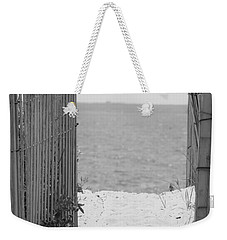 Beyond The Dunes Bw Weekender Tote Bag by Barbara Bardzik