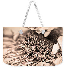 Weekender Tote Bag featuring the photograph Beyond The Pedals by Steven Santamour
