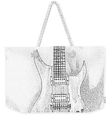 Bich Electric Guitar Sketch Weekender Tote Bag