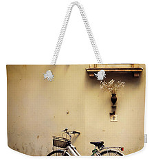 Bicycle And Madonna Weekender Tote Bag