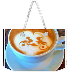 Bicycle Built For Two Latte Weekender Tote Bag