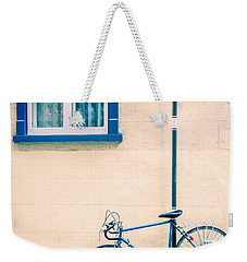 Bicycle On The Streets Of Old Quebec City Weekender Tote Bag
