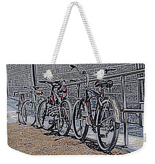 Bicycles On A Rail Weekender Tote Bag