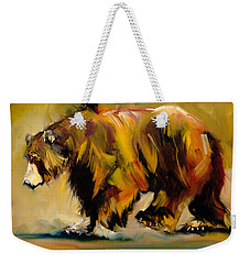 Big Bear Walking Weekender Tote Bag