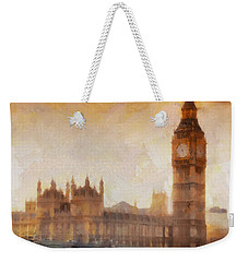 Big Ben At Dusk Weekender Tote Bag by Pixel Chimp