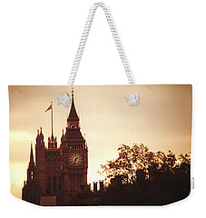 Big Ben In Sepia Weekender Tote Bag by Rachel Mirror