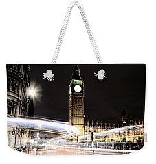 Big Ben With Light Trails Weekender Tote Bag