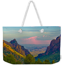 Big Bend Texas From The Chisos Mountain Lodge Weekender Tote Bag
