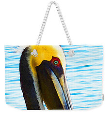 Big Bill - Pelican Art By Sharon Cummings Weekender Tote Bag by Sharon Cummings