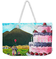 Big Birthday Surprise Weekender Tote Bag