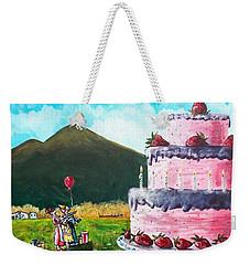 Big Birthday Surprise Weekender Tote Bag by Shana Rowe Jackson