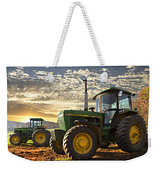 Big Boys' Toys Weekender Tote Bag by Debra and Dave Vanderlaan