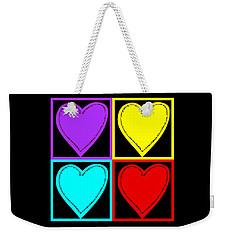 Big Hearts I Weekender Tote Bag by Marianne Campolongo