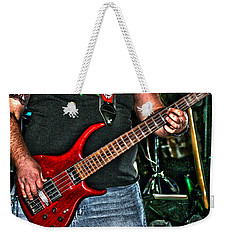 Weekender Tote Bag featuring the photograph Big Red Tobias by Lesa Fine