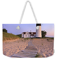 Big Sable Point Lighthouse Weekender Tote Bag by Adam Romanowicz
