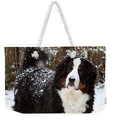 Snow Happy Weekender Tote Bag by Patti Whitten