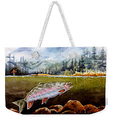Big Thompson Trout Weekender Tote Bag by Craig T Burgwardt