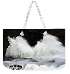 Big Waves Breaking On Breakwater Weekender Tote Bag