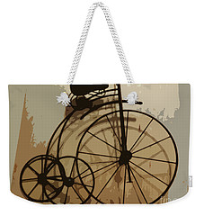 Weekender Tote Bag featuring the photograph Big Wheel Trike by Ecinja Art Works