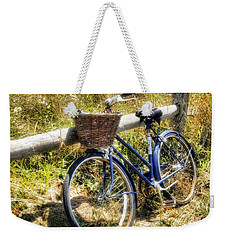Bike At Nantucket Beach Weekender Tote Bag by Tammy Wetzel