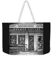 Bike At Palmer Square Book Store In Princeton Weekender Tote Bag