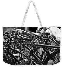 Bike Parking In Switzerland Weekender Tote Bag