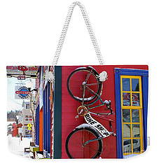 Bike Shop Weekender Tote Bag by Fiona Kennard