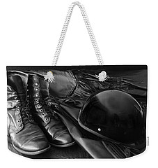 Biker Gear Weekender Tote Bag by Kenny Francis