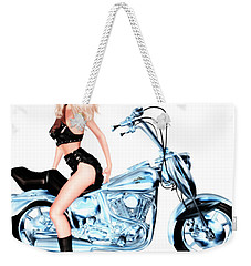 Biker Girl Weekender Tote Bag by Renate Janssen