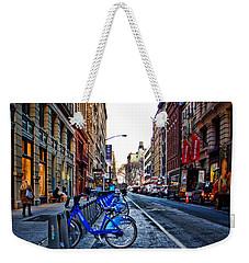 Bikes In The Snow Weekender Tote Bag