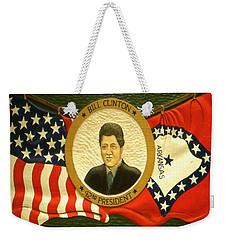 Bill Clinton 42nd American President Weekender Tote Bag by Art America Online Gallery