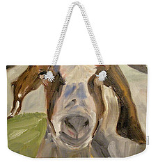 Weekender Tote Bag featuring the painting Billy by Donna Tuten