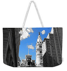 Billy Penn Blue Weekender Tote Bag by Photographic Arts And Design Studio