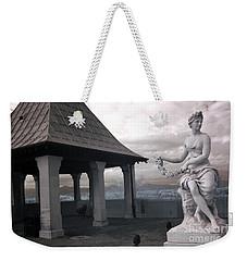 Biltmore Italian Garden Gazebo - Biltmore House Statues Architecture Garden Weekender Tote Bag by Kathy Fornal